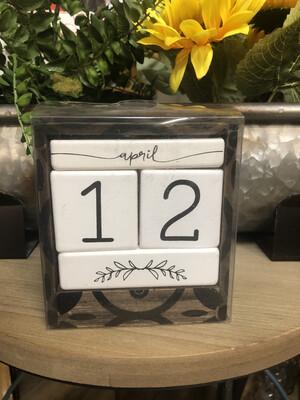 Patterned Calendar