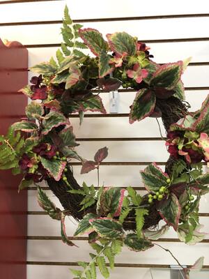 wreath w\florals