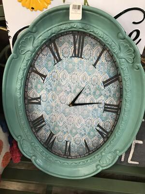 Oval Aqua Clock