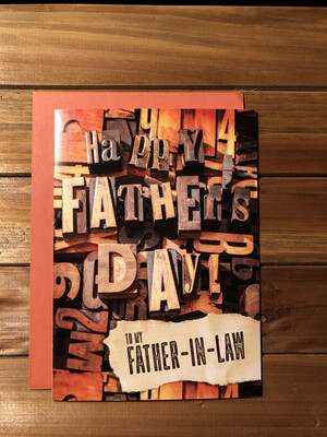 Father's Day Letter Blocks Card