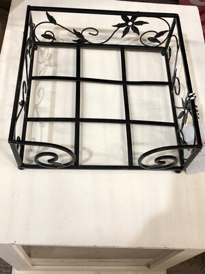 black metal napkin holder