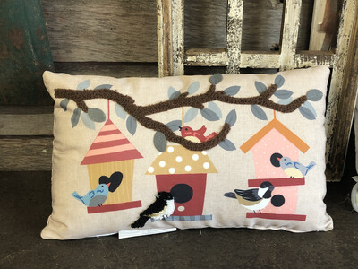 Birdhouse Pillow