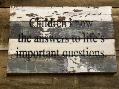 Children Know Answers