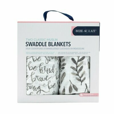 Leaves/Just Be Swaddle