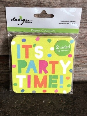 It's Party Time Coaster