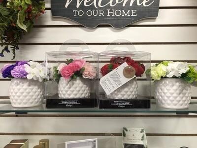 Floral Soap w/Vase