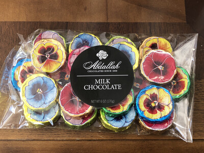 Milk Chocolate Pansies