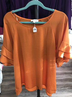 Orange Ruffle 2XL