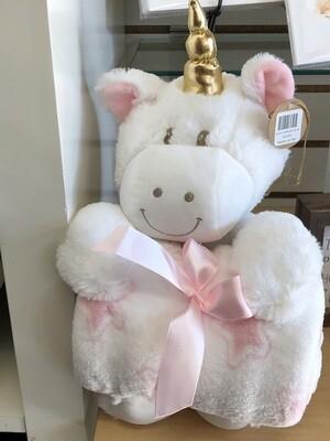 Unicorn w/Blanket Gift Set