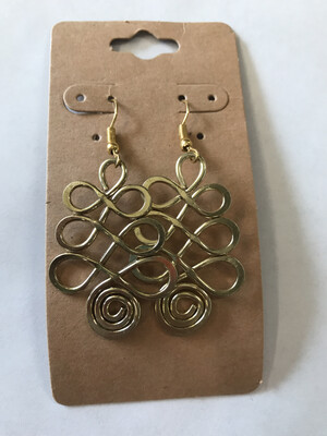 Crossed Paths Gold Earrings