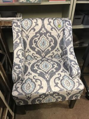 Grey Blue Geo Chair
