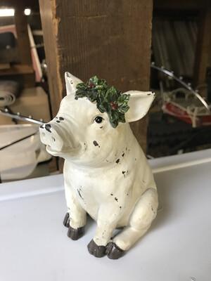 Pig\Cow w\Wreath
