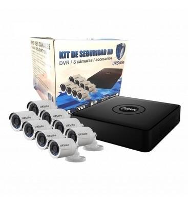 Kit Ursafe DVR FullHD 8 Camaras