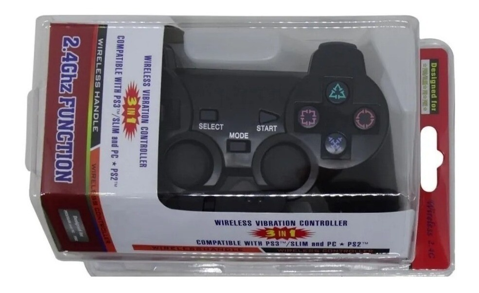 Joystick inalámbrico compatible con  PS2 PS3 PC