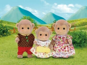 Calico Critter Mango Monkey Family