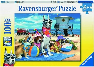 105267 No Dogs on the Beach 100pc Puzzle