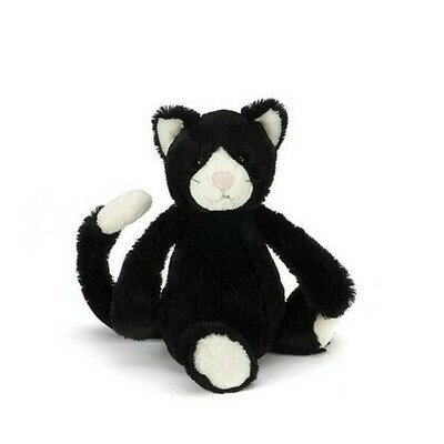 Bashful Black & White Kitten Med
