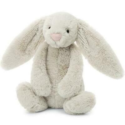 Bashful Oatmeal Bunny Med Plush