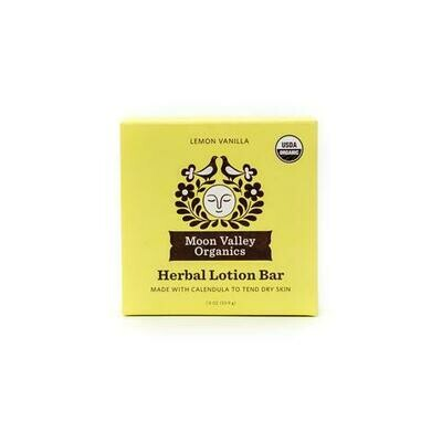 Lemon Vanilla Herbal Lotion Bar - Moon Valley Organics