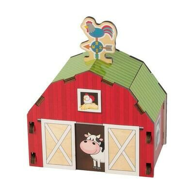 Barn Build It Blueprint Puzzle - Fat Brain Toys