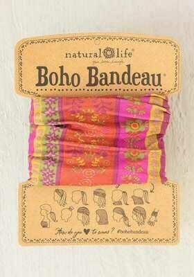 241 Fuschia Floral Stamp Boho Bandeau