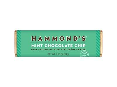Mint Chocolate Chip Dark Chocolate Candy Bar - Hammonds