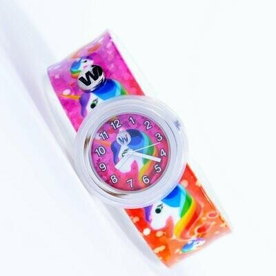 Watchitude Rainbow Unicorns #432 Slapwatch