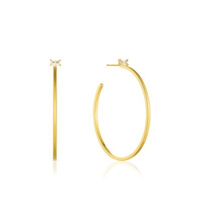 AH Glow Hoop Earrings - Gold