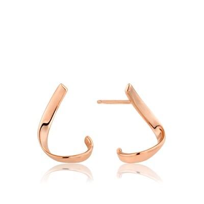 AH Twist Stud Earrings - Rose Gold