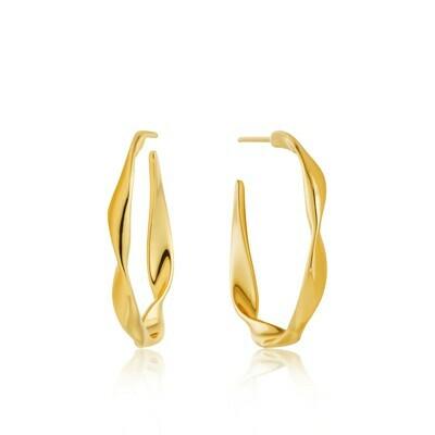 AH Twist Hoop Earrings - Gold