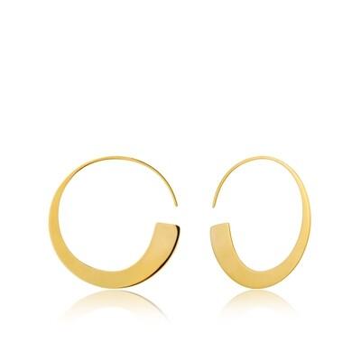 AH Geometry Slim Hoop Earrings - Gold