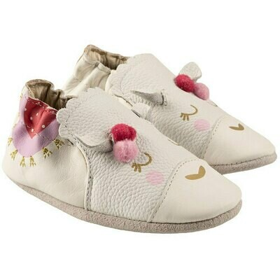 Robeez Luna White Girls 0-6mo Shoes