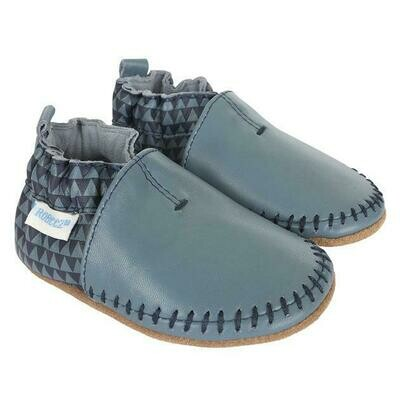 Robeez Geo Blue Moccasin 18-24mo Shoes