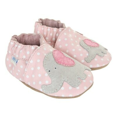 Robeez Little Peanut Pastel Pink Girls 6-12mo Shoes