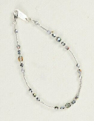 Holly Yashi 1887 Silver Sonoma Glass Bead Bracelet