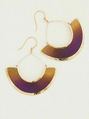 Holly Yashi 12155 - Caramel Half Moon Earrings