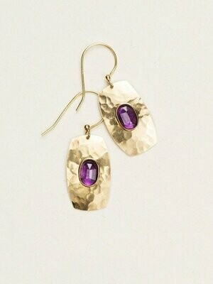 Holly Yashi 12379 Purple/Gold Wanderer Earrings
