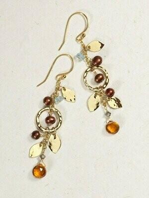 Holly Yashi 13841 - Apricot Fairy Garden Drop Earrings