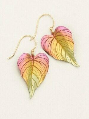 Holly Yashi 90154 Peach Tropical Heart Earrings