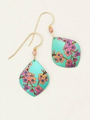 Holly Yashi 90162 Teal Spring in Bloom Earrings