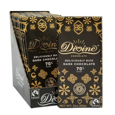 Divine 70% Dark Chocolate - 3oz