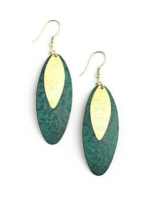 Fair Anita Oblong Leaf Earrings - 1296