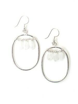 Fair Anita Blazen Moonstone Silver Plated Earrings