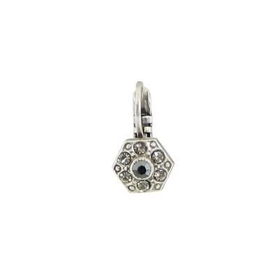 E914J Grey Crystal Hexagon BB Earrings