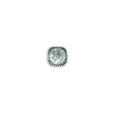 E975Q Blue Square Granulated Post BB Earrings