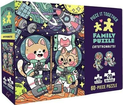 Catstronauts Family Puzzle 60pc