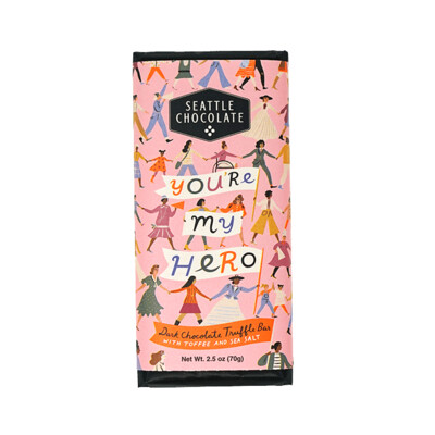 You're My Hero Seattle Chocolate Bar