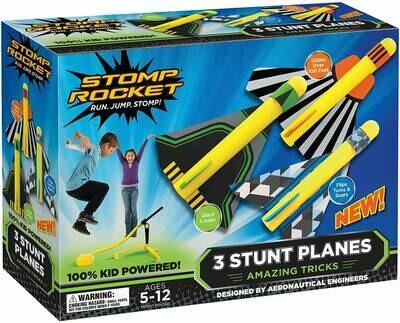Stomp Rocket - 3 Stunt Planes