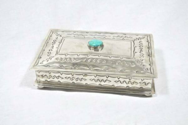 Stamped Silver Box w/TQ