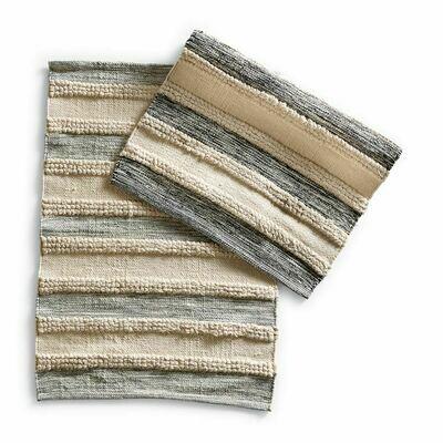 Gray & Cream Woven Rug